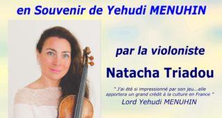Récital de violon de Natacha Triadou