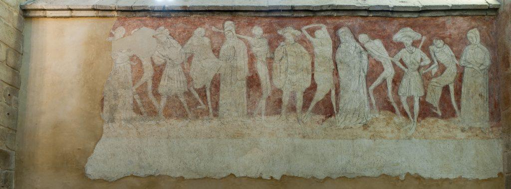 Deuxième travée de la danse macabre, Abbatiale de La Chaise-Dieu