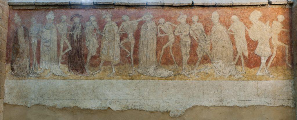 Première travée de la danse macabre, Abbatiale de La Chaise-Dieu